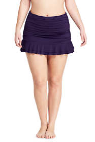 Women's Plus Size Retro High Waisted Skirted Swimsuit Bottoms with Tummy Control