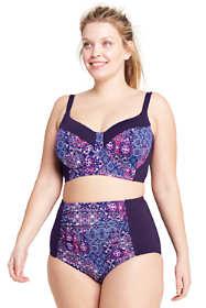 Women's Plus Size DD-Cup Underwire Midkini Top