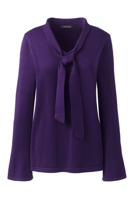 Women's Tie Neck Sweater