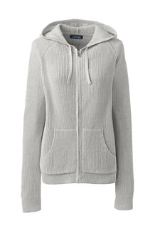 Women's Linen Cotton Zip Hoodie