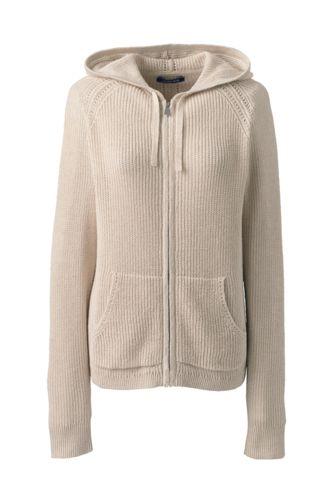 e590e722bcc Women's Linen Cotton Zip Hoodie | Lands' End
