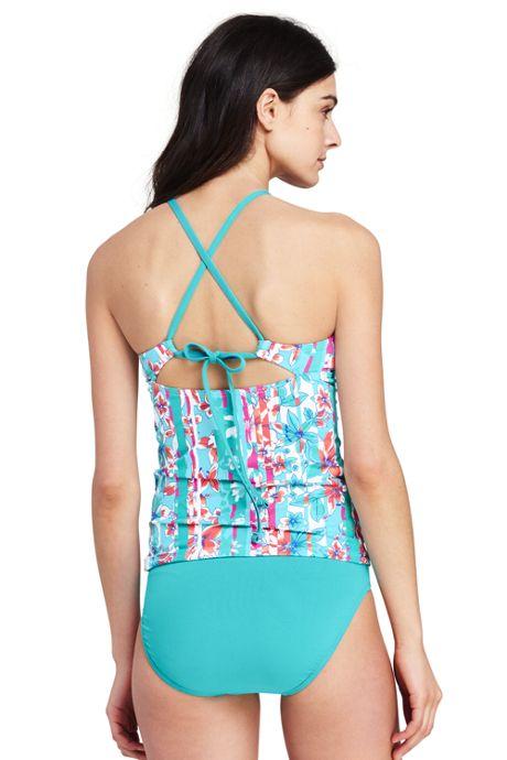 Women's Strappy High-neck Tankini Top