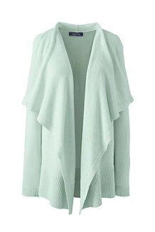 Women's Linen Cotton Waterfall Cardigan