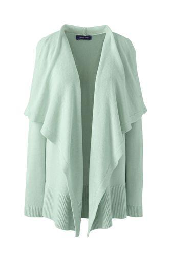Women's Linen Cotton Waterfall Cardigan