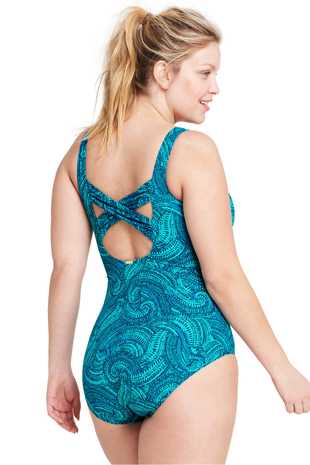 a15bc8fc00 Women s Plus Size DD-Cup Slender Underwire Carmela One Piece Swimsuit with Tummy  Control