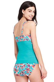 Women's Underwire Wrap Tankini Top, Back