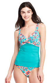 Women's Petite Underwire Wrap Tankini Top