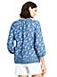 La Blouse Imprimée en Lin Manches 3/4, Femme Stature Standard