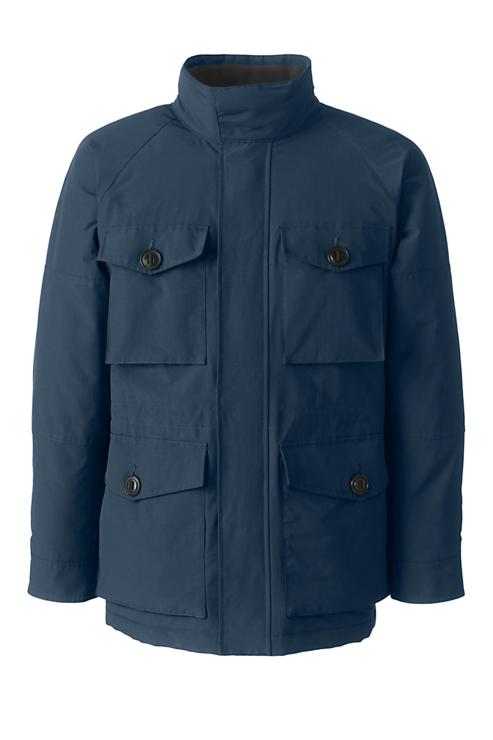 Lands End Mens Squall Military Jacket (Radiant Navy)
