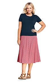 a2db0ea261eca Women s Plus Size Stripe Knit Midi Skirt