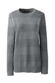 Women's Cotton Modal Long Sleeve Texture Stripe Tunic Sweater