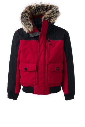 Mens coat raincoat parka hood Small 38 40 Medium 42 44 New UTY Red Black