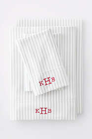 Cotton Knit Stripe Pillowcases