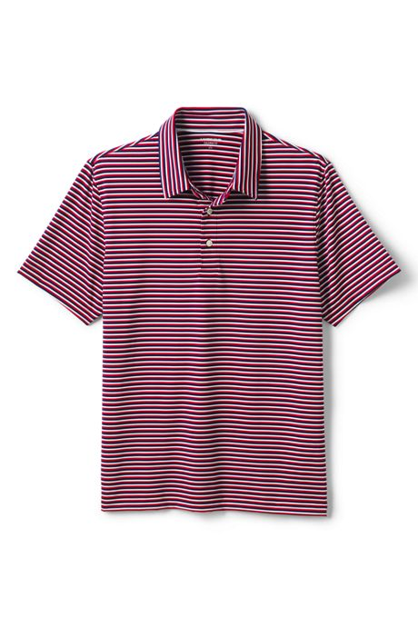 Men's Tailored Short Sleeve Stripe Comfort-First Golf Polo Shirt