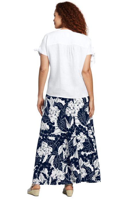 Women's Plus Size Floral Maxi Skirt
