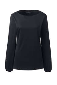 Women's Plus Size Supima Micro Modal Blouson Sleeve Top