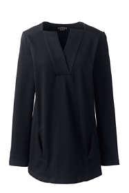 Women's Long Sleeve Modern V-neck Tunic