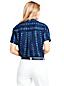 Women's Patterned Short Sleeve Linen Shirt