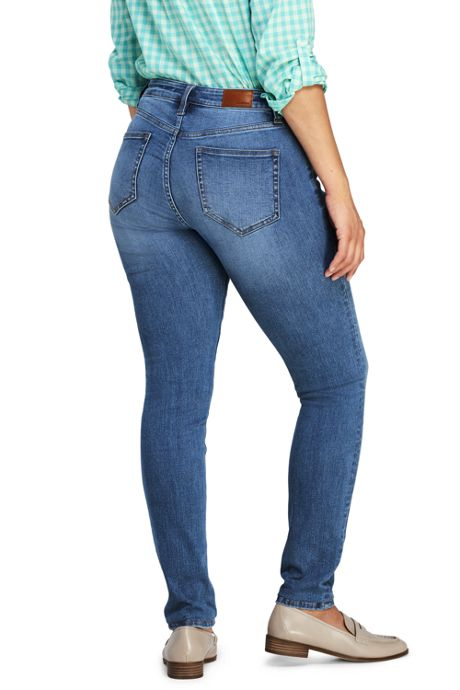 Women's Petite Mid Rise Curvy Skinny Jeans