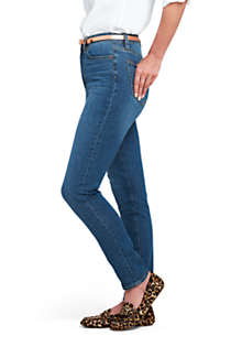 Women's Curvy Mid Rise Skinny Jeans - Blue , Right
