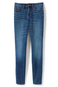 Women's Curvy Mid Rise Skinny Jeans - Blue