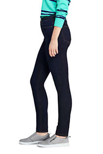 Women's Curvy Mid Rise Skinny Jeans - Blue , alternative image