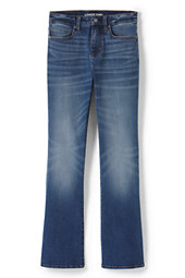 Lands' End Women's Mid Rise Curvy Boot Cut Jeans