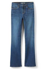 Women's Curvy Mid Rise Bootcut Jeans - Blue