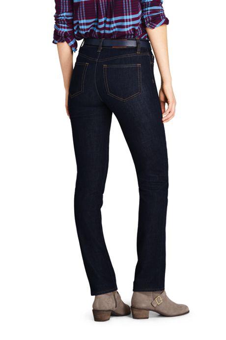 Women's Petite Mid Rise Curvy Boot Cut Jeans