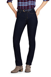 Lands' End Women's Mid Rise Curvy Boot Cut Jeans