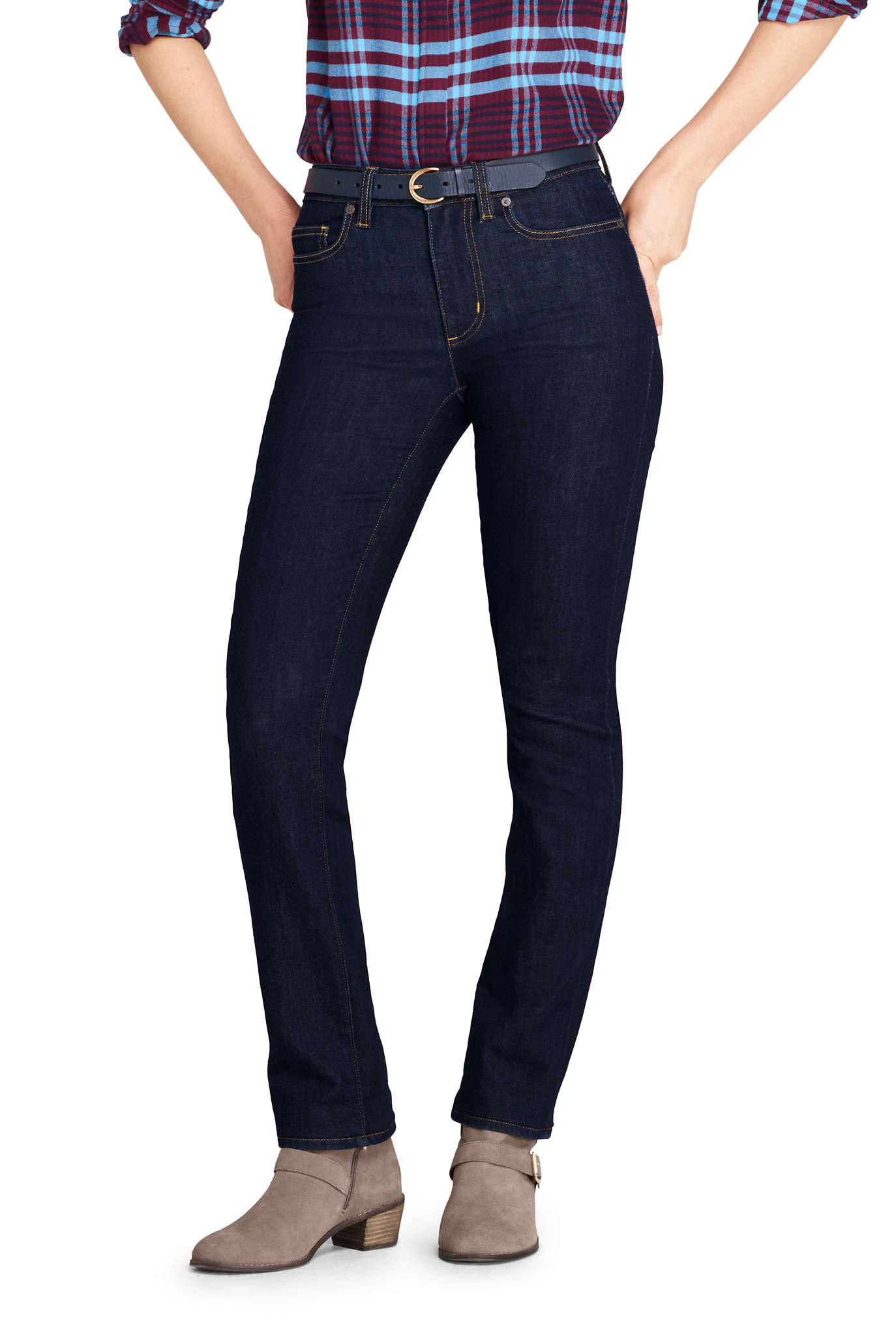 Women's Curvy Elastic Waist High Rise Pull On Skinny Legging Jeans - Blue