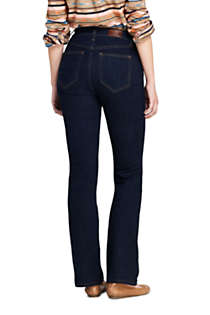 Women's Curvy Mid Rise Bootcut Jeans - Blue, Back