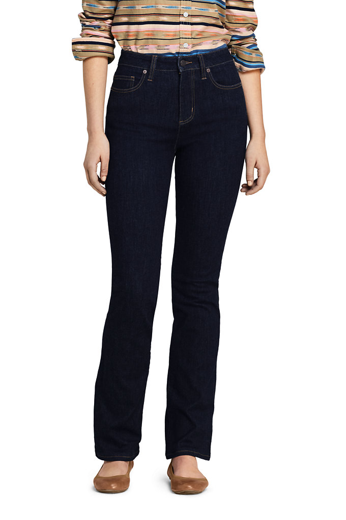 Women's Curvy Mid Rise Bootcut Jeans