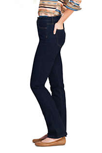 Women's Petite Curvy Mid Rise Bootcut Jeans - Blue, Unknown