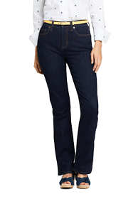 Women's Petite Mid Rise Curvy Boot Cut Jeans