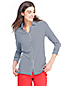 Women's Petite Three-quarter Sleeve Shirt in Cotton/Modal