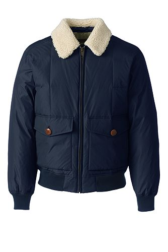 Lands' End 600 Down Bomber 501923: Classic Navy