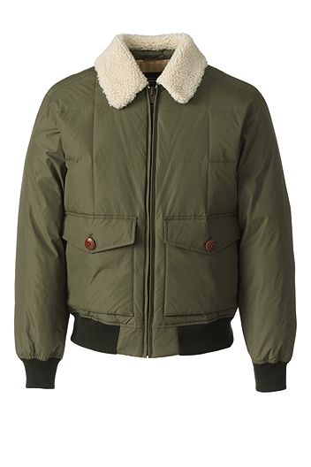 Lands' End 600 Down Bomber 501923: Smokey Olive
