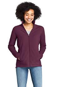 Women's Petite Full Zip Fleece Jacket