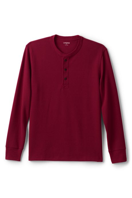Men's Tall Long Sleeve Comfort-First Thermal Waffle Henley