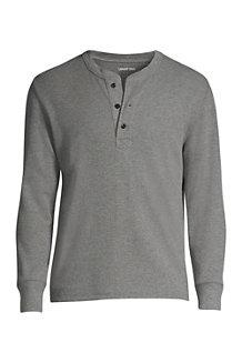 Henley-Shirt mit Waffelstruktur für Herren