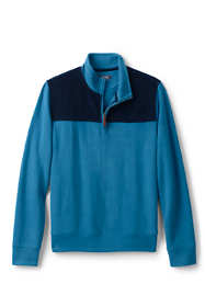 Men's Tall Corduroy Blocked Bedford Rib Quarter Zip Sweater