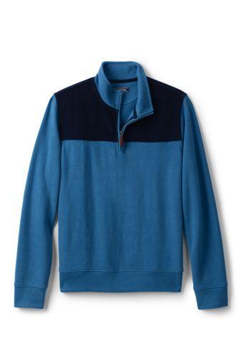 Le Pull Bedford avec Zip et Velours Côtelé, Homme Stature Standard