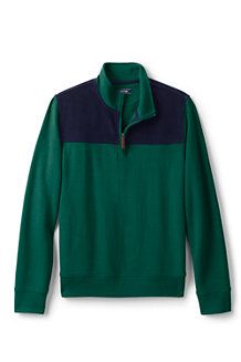 Men's Colourblocked Brushed Rib Half Zip Jumper