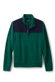 Men's Corduroy Blocked Bedford Rib Quarter Zip Sweater