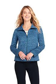 Women's Textured Sweater Fleece Jacket