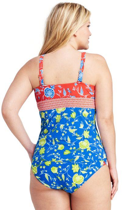 Women's Plus Size V-neck Tankini Top
