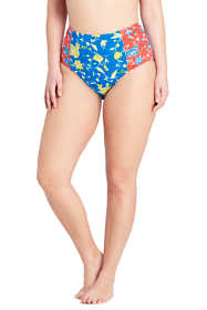 Women's Plus Size Retro High Waisted Bikini Bottoms