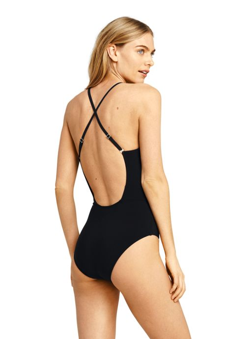 Women's Deep V-neck One Piece Swimsuit