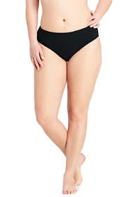 Women's Plus Size Mid Waist Bikini Bottoms